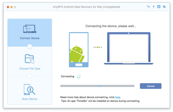 AnyMP4 Android Data Recovery for Mac full screenshot