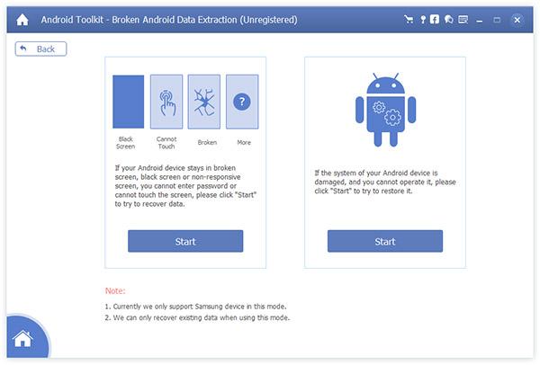 AnyMP4 Broken Android-puhelimen tietojen poisto