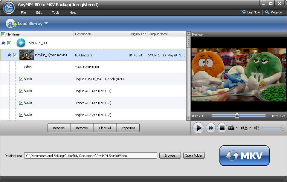The best Blu-ray to MKV backup software