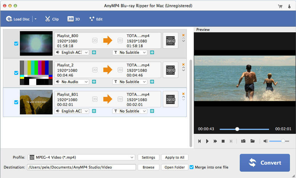 AnyMP4 Blu -ray ripper for mac