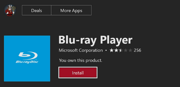 Download Blu-ray Player App from Xbox Store