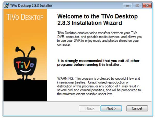 Tivo desktop windows