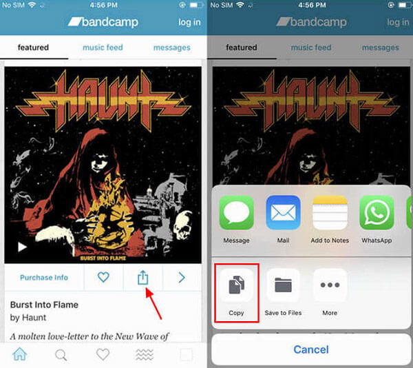 Download Bandcamp to MP3 on iPhone