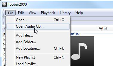 CD MP3-tiedostoon foobar2000-levyllä
