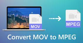 Muunna MOV MPEG: ksi