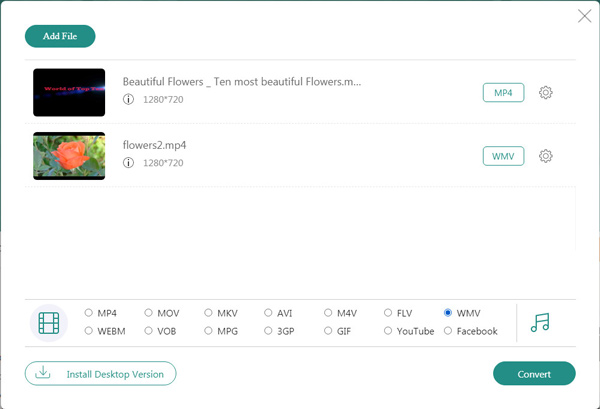 Muunna MP4 WMV Free Online -palveluksi