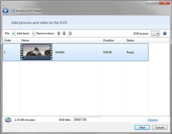Muunna WMV DVD: ksi Windows DVd Maker -sovelluksessa
