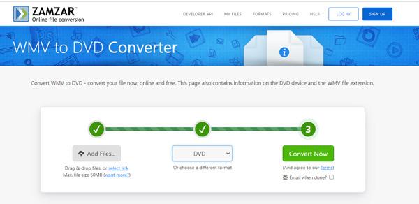 Ilmainen online WMV to DVD Converter