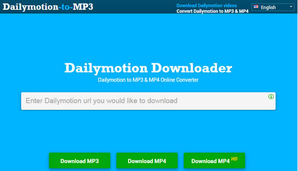 DailyMotion MP3 ja MP4