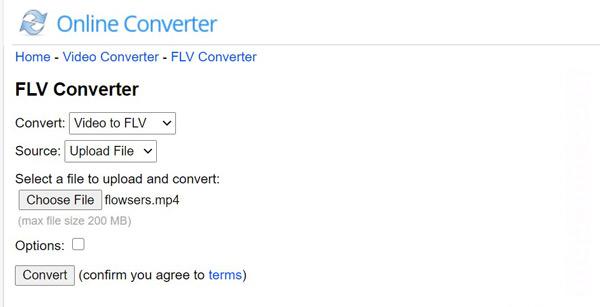 Flv Converter Online -muunnin