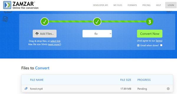 Flv Converter Online Zamzar