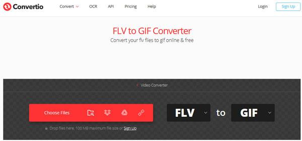 Muunna FLV GIF: ksi