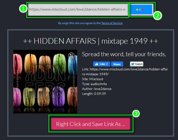 Lataa mixcloud mp3-tiedostoon verkossa