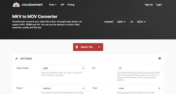 CloudConvert MKV MOV: ksi