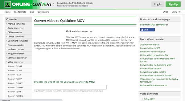 Online Muunna MKV MOV: ksi