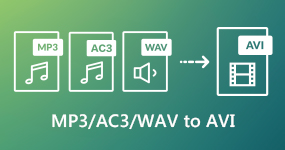Muunna MP3 / AC3 / WAV AVI-muotoon