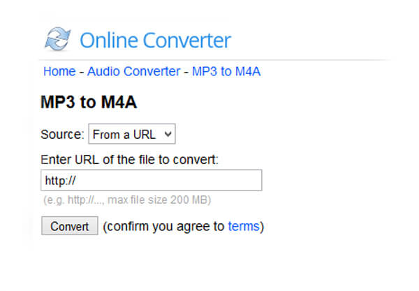mp3 to m4a converter online