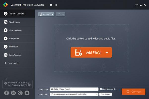 Aiseesoft Vapaa Video Converter