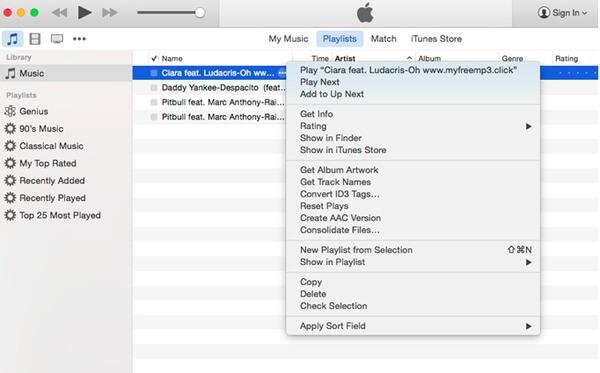 Muunna wav m4r iTunesiksi