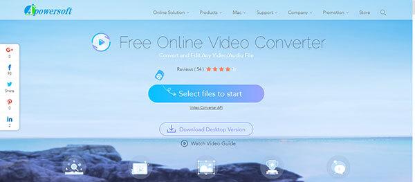 Apowersoft Vapaa Online Video Converter