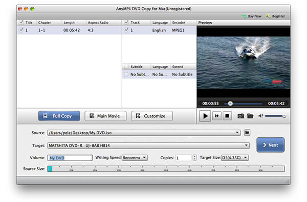 User Guide of AnyMP4 DVD Copy for Mac
