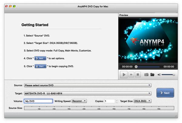 Suorita DVD Copy for Mac