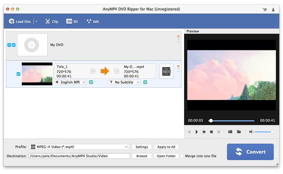 AnyMP4 DVD Creator for Mac full screenshot