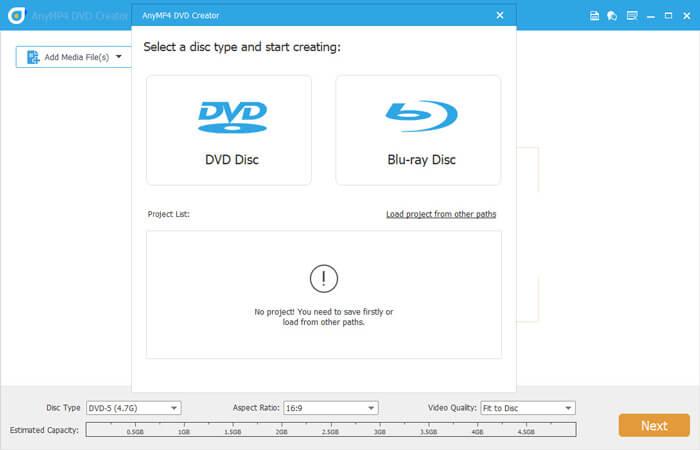 Valitse DVD Blu-ray