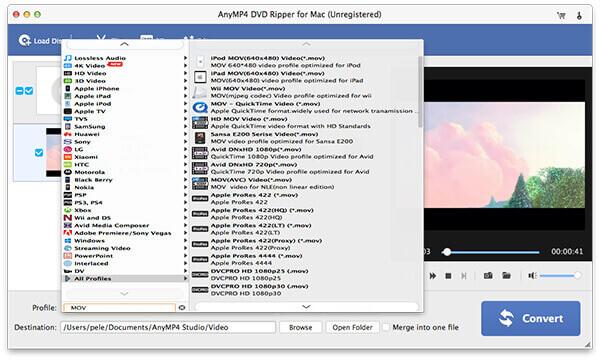 DVD Ripper for Mac -näyttö