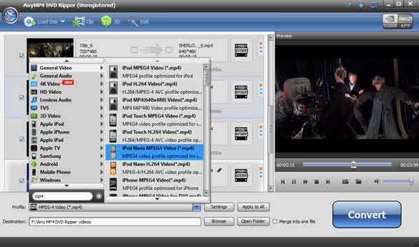 DVD Ripper screen