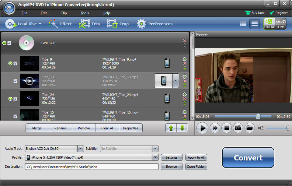 AnyMP4 DVD to iPhone Converter 6.2.08 full