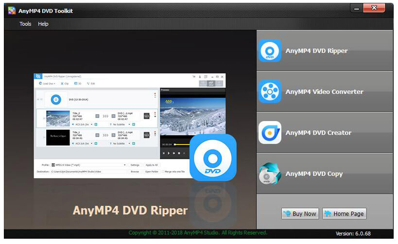 AnyMP4 DVD Toolkit - 一站式 DVD 工具丨反斗限免