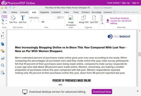 Foxit PDF Editor Online