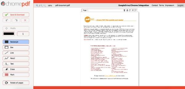 Muokkaa PDF-tiedostoa Chromepdf-ohjelmalla