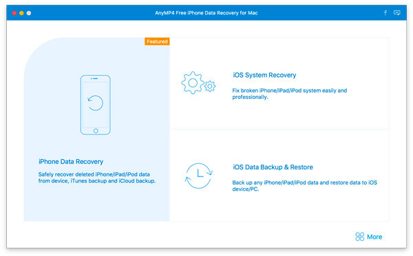 AnyMP4 Free iPhone Data Recovery for Mac full screenshot