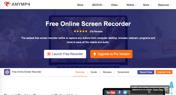 AnyMP4 Free Online Screen Recorder