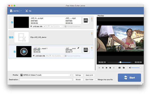 Screenshot of AnyMP4 Free Video Cutter Joiner