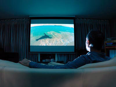 Enjoy HD video with home cinema
