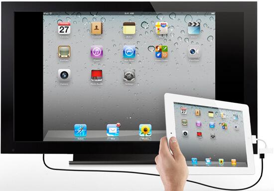 Yhdistä iPad 2 HDTV: hen