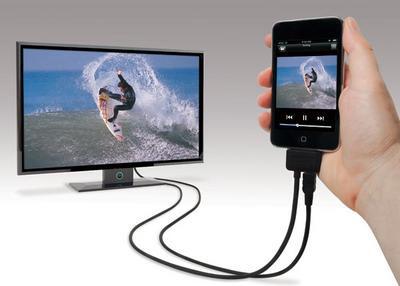 Liitä iPhone 4 HDTV: hen