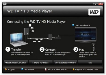 WDTV: n liittäminen HDTV: hen