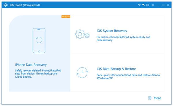 Valitse iOS Data Backup & Restore