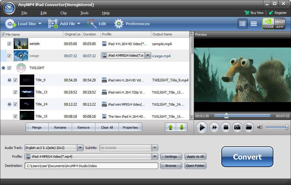 Windows 7 AnyMP4 iPad Converter 6.1.60 full