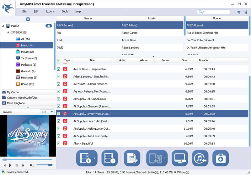 Click to view AnyMP4 iPad Transfer Platinum screenshots