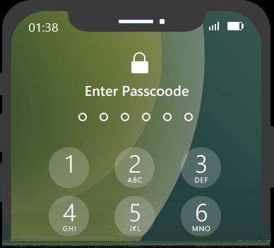 iPhonen salasana on unohtunut