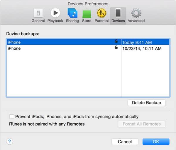 Tarkista, onko iTunes salattu