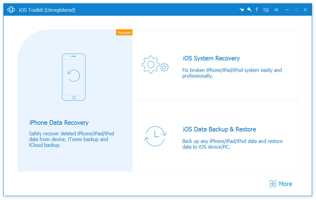 Recover deleted files from iPhone/iPad/iPod.