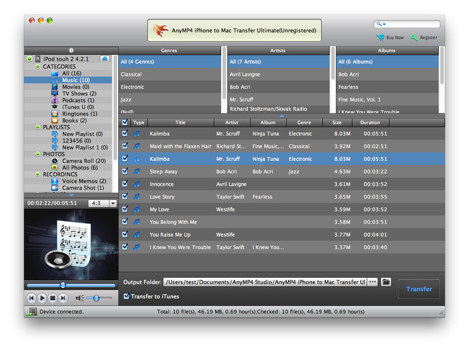 AnyMP4 iPhone to Mac Transfer Ultimate 7.0.22 full
