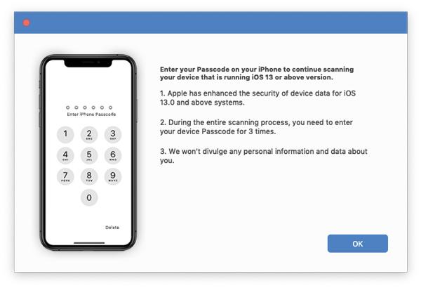 Kirjoita iOS 13-salasana
