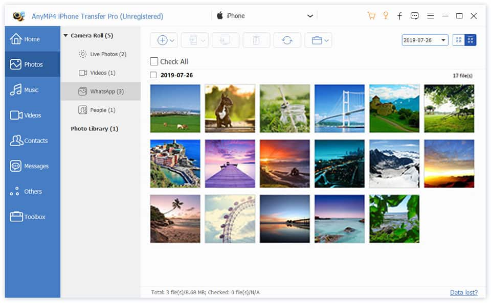 iPhone Transfer Pro Photos